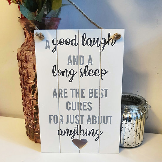 A Good Laugh Hanging Wall Plaque