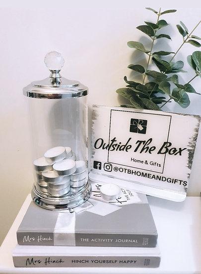 Crystal Top Glass Jar