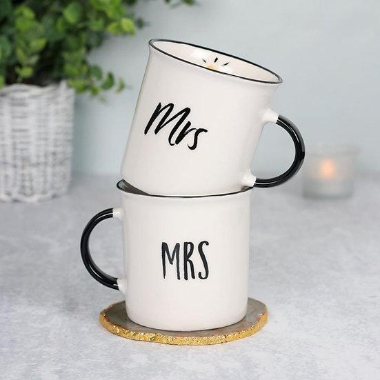 Mrs and Mrs Wedding Mugs Giftset