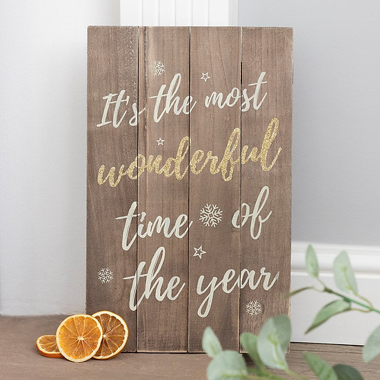 Most Wonderful Time of The Year Wooden Plaque