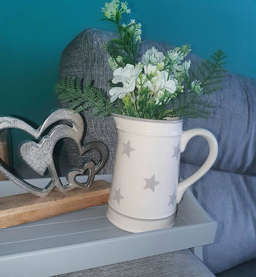 Grey Stars Ceramic Jug