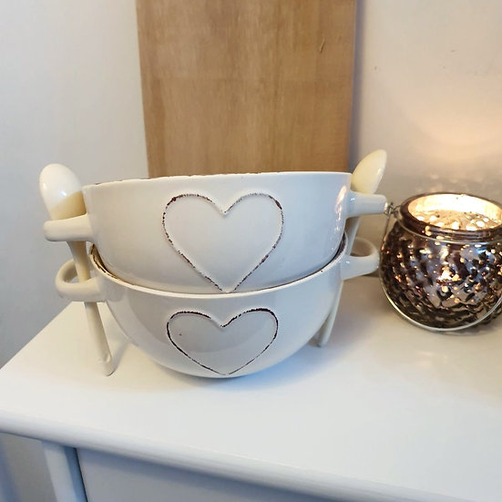 Heart Bowl Set