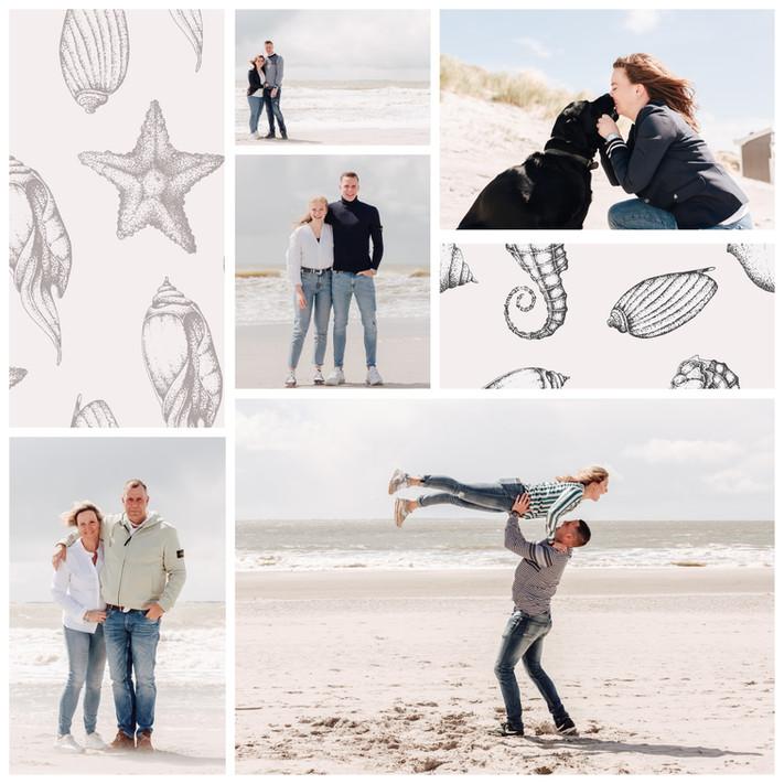 Fotoshoot Burgh-Haamstede, Gezinsfotoshoot op het strand in Zeeland, familie fotoshoot strand Groede