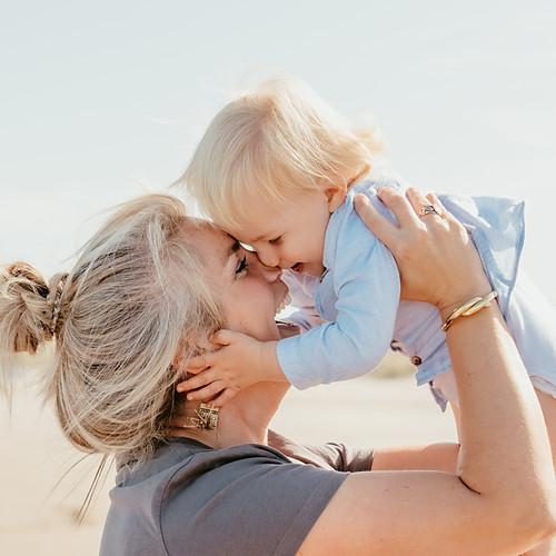 Photos de famille à la plage