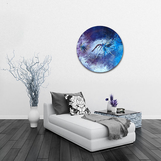 """Arcane"" Abstract Acrylic Circular Painting in Situ"