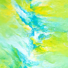 Original Green Abstract Acrylic Painting