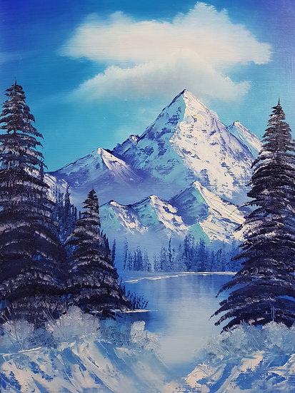 """""""Blue Winter"""" Print of Oil Painting"""