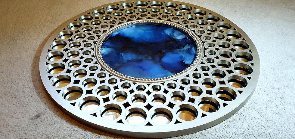 Circular Silver Wall Art - Slick Oils Style
