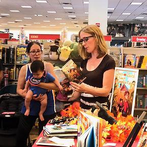 Shana Gorian signing books at Barnes & Noble