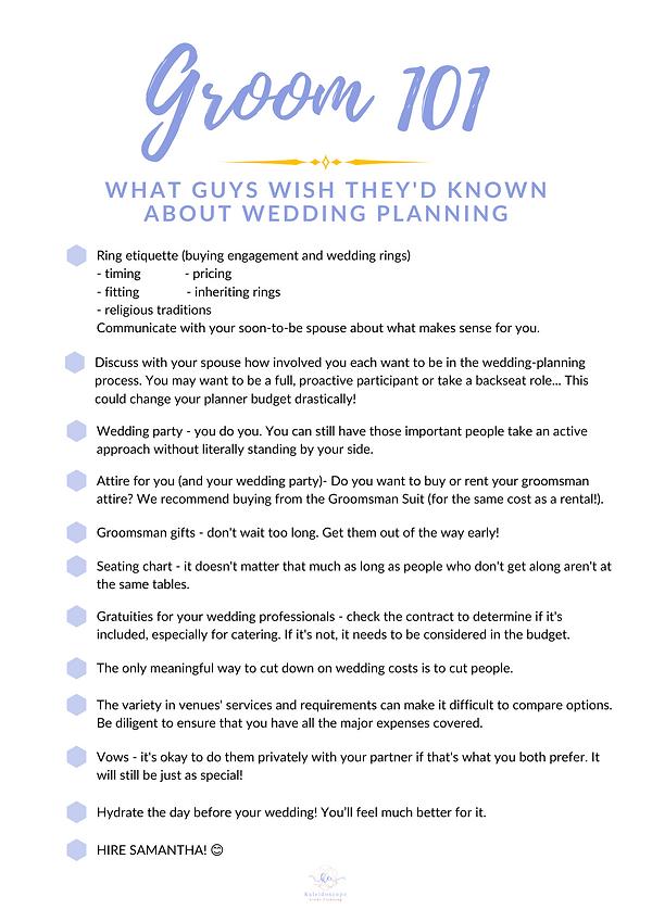Groom 101 Checklist.png