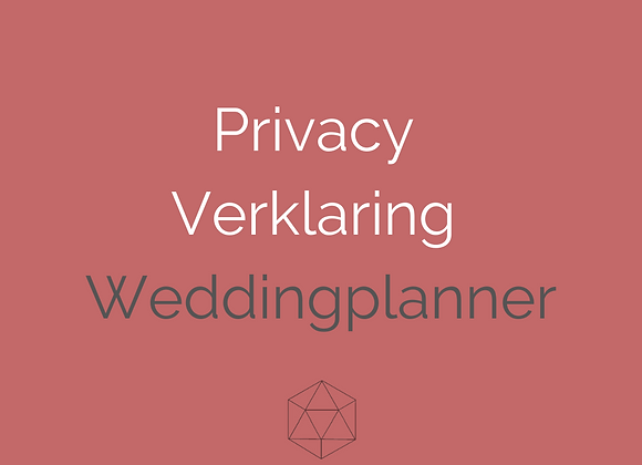Privacyverklaring Weddingplanner