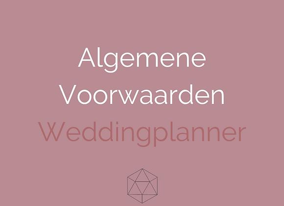 Algemene Voorwaarden Weddingplanner
