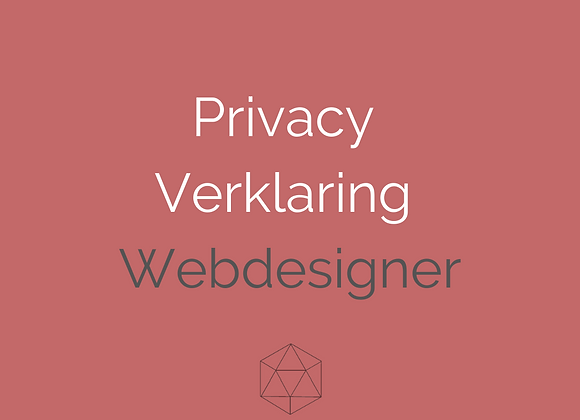 Privacyverklaring Webdesigners