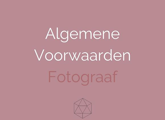 Algemene Voorwaarden Fotograaf