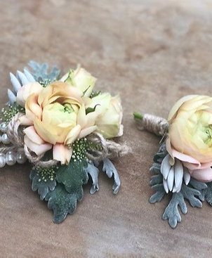 Custom Father Daughter Dance Corsage & Boutonniere Set