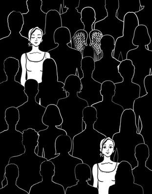 Illustration for 'Me and Me' book by Alice Kuipers / Иллюстрация для книги 'Я и Я' Элис Куиперс