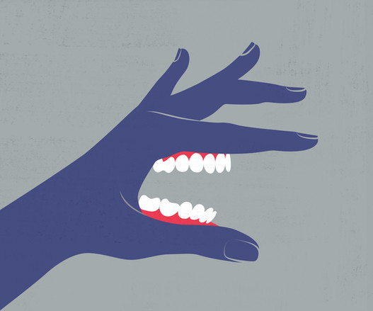 The hand of a getter. Illustration for MAXIM / Рука берущего. Иллюстрация для MAXIM