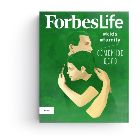 ForbesLife Russia cover illustration. Kids and family issue