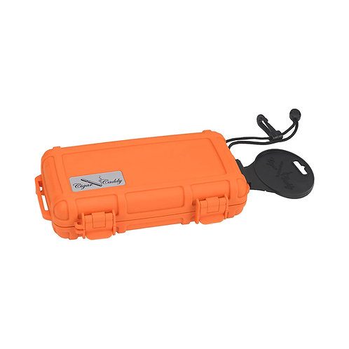 Humidor - Caddy Travel - Orange - 5 Cigares
