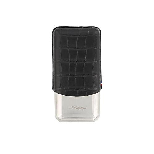 Etui à cigare triple - S.T. Dupont - Croco Dandy Noir