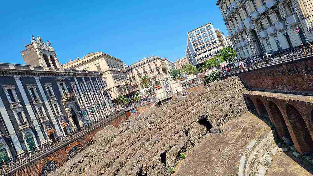 A római amfiteátrum Catania-ban