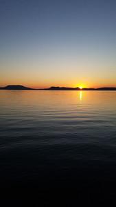 Csodálatos naplemente Bogláron