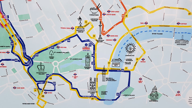 london; séta; útvonal