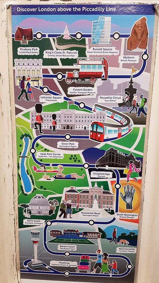 picadilly line; london; útvonal; séta; nevezetességek