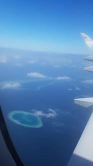 Maldív-szigetek fentről nézve
