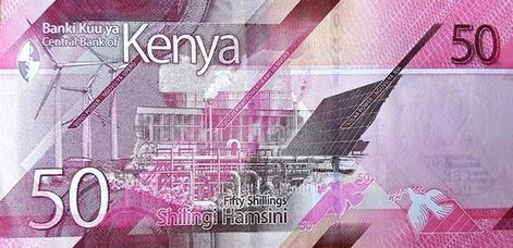 Kenyai shilling - hátlap