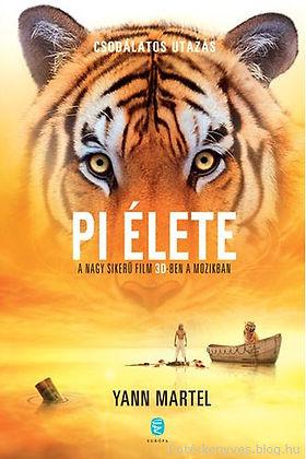 könyv; utazás; pi élete; india; tenger; tigris;hajó