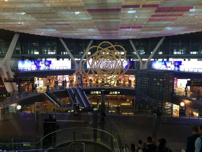 Csillár a dohai repülőtéren