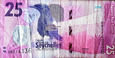 Seychelle-i rúpia - hátlap