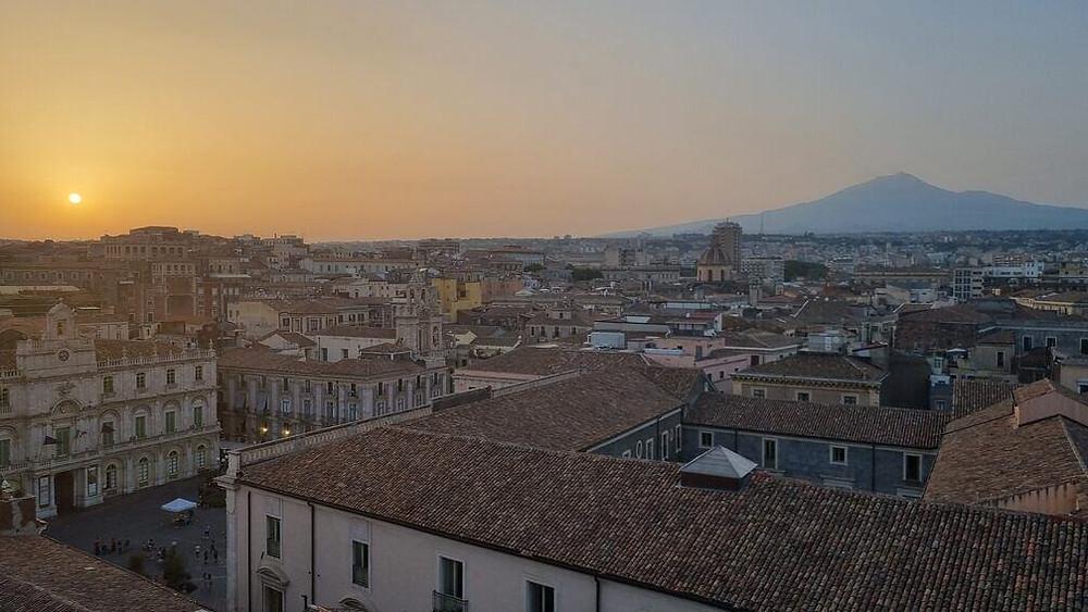 Catania, Etna, naplemente