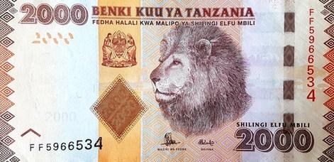 Tanzániai shilling - előlap
