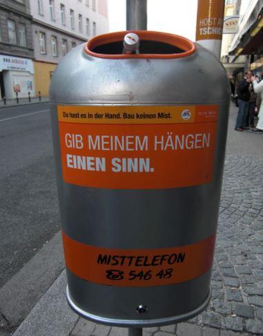 Szemeteskuka Bécsben