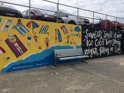 Művészeti falfestmény, Bondi beach, sydney