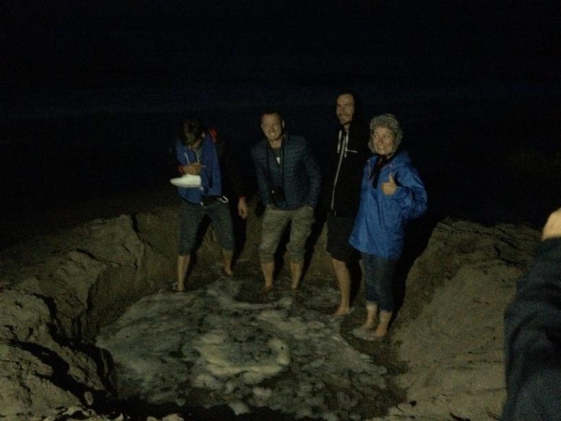 Hot water beach; forró víz; apály; új-zéland
