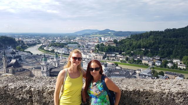 Salzburg városa, kilátás a Salzburgi várból