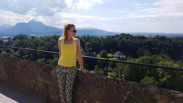 Kilátás a várból, Salzburg