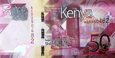 Kenyai shilling - előlap