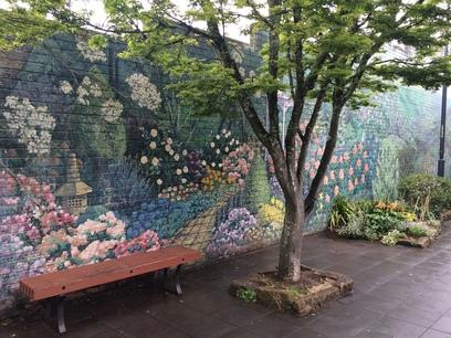 A művészet az utcán hever, falfestmény, three sisters, kirándulás