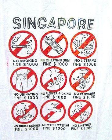 "Szingapúr, a ""fine city"""