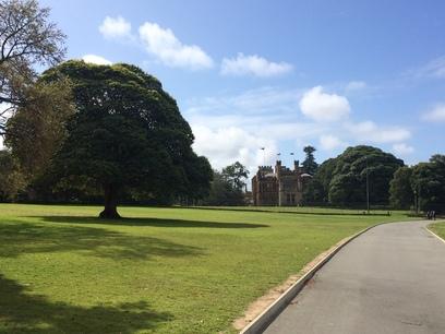Tiszta, rendezett park, Sydney belvárosában