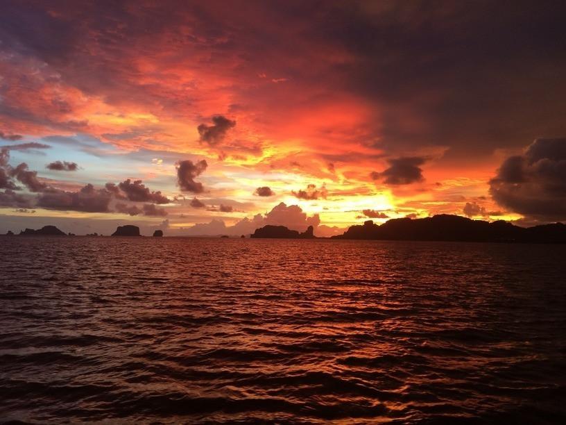 Naplemente, Krabi, Thaiföld