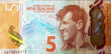 Új-zélandi dollár - előlap