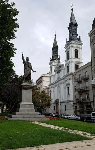 Petőfi Sándor szobor és orosz templom, Budapest