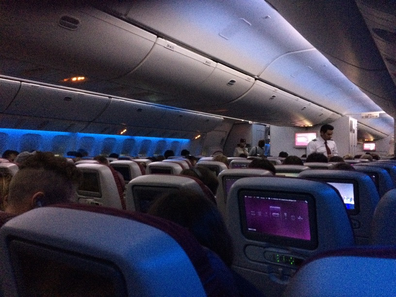 Qatar Airways; B777; turista osztály; Auckland