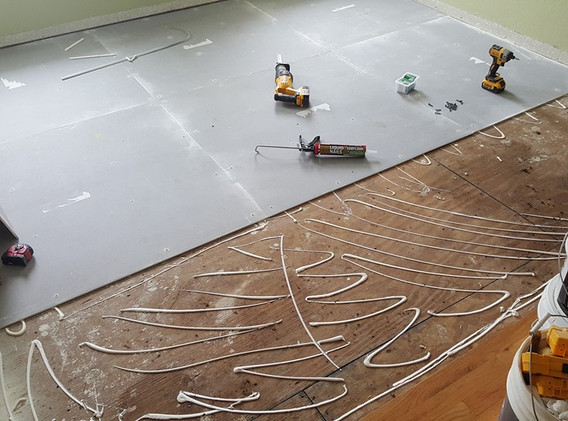 Tile flooring unfinished cement board.jp