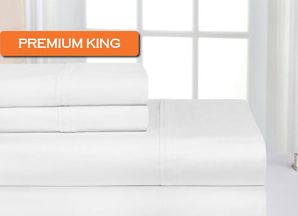 Premium King Sheet Set w/ Standard Pillowcases